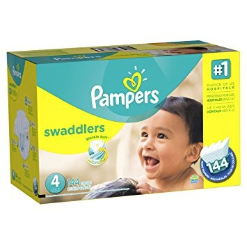 pampers pañales economía swaddlers paquete plus, tamaño 4,
