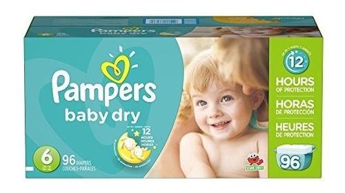pampers pañales para bebés seco tamaño de 6, 96 conde