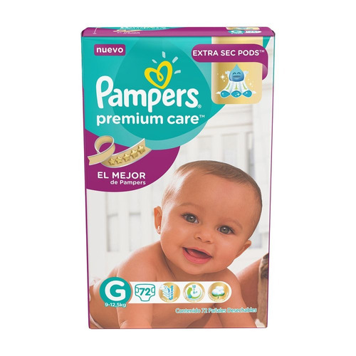 pampers premium care g x72u six pack 6 paquetes