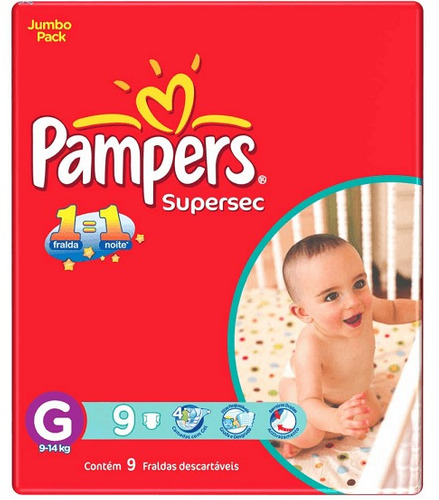 pampers supersec grande (54 unidades)