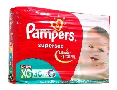 pampers supersec x32 xg