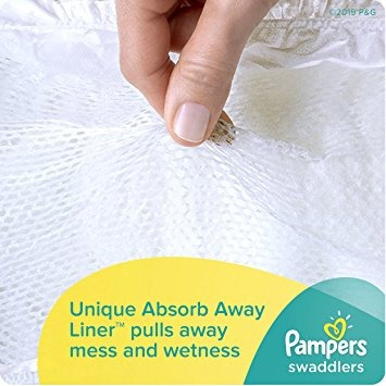 pampers swaddlers pañales, tamaño 1, gigante paquete, 148