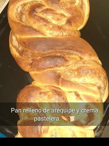 pan campesino,donas ,pan relleno de arequipe