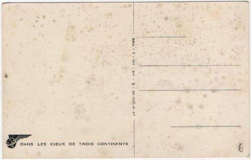 panair do brasil -  cartão postal com avião dc-6 / 7 francês