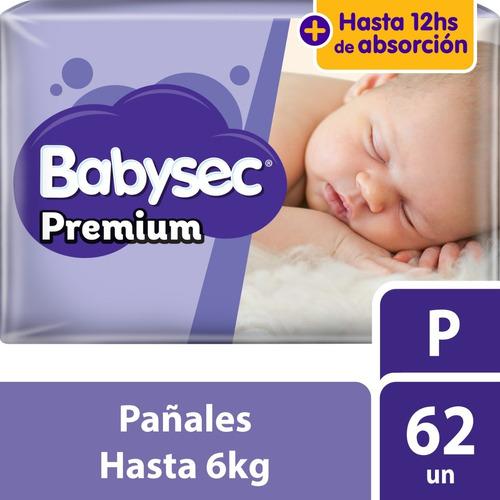 pañal babysec premium mega p x62