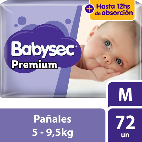 pañal babysec premium supermega m x72