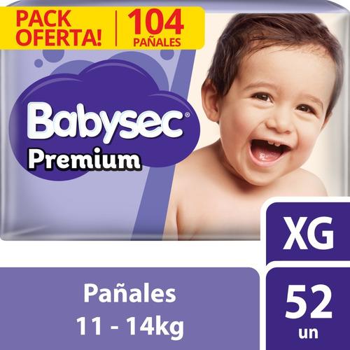 pañal babysec premium xg x104