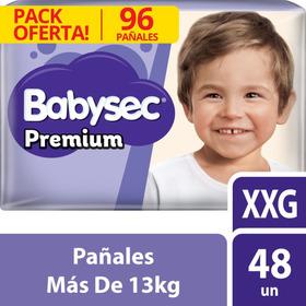 Pañal Babysec Premium Xxg X96