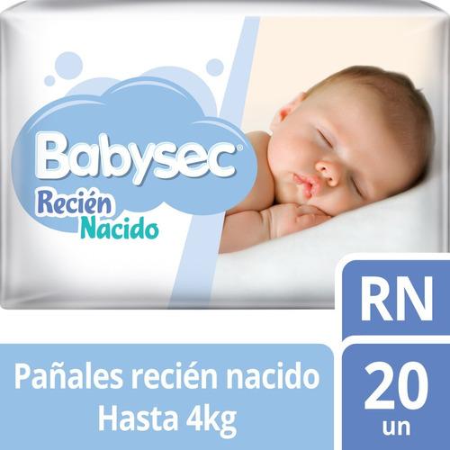 pañal babysec recien nacido x20