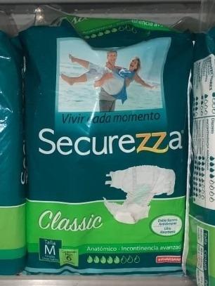 pañal de adulto talla m securezza (bulto)