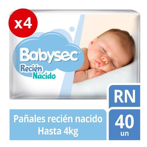 pañal de bebe babysec recien nacido pack x4 tienda oficial