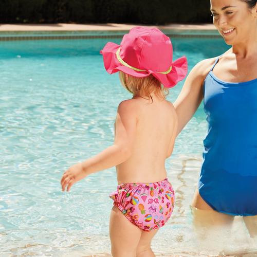 pañal de natación reutilizable traje de baño niña swimschool