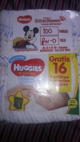pañal ecológico desechable huggies talla rn de 32 unidades