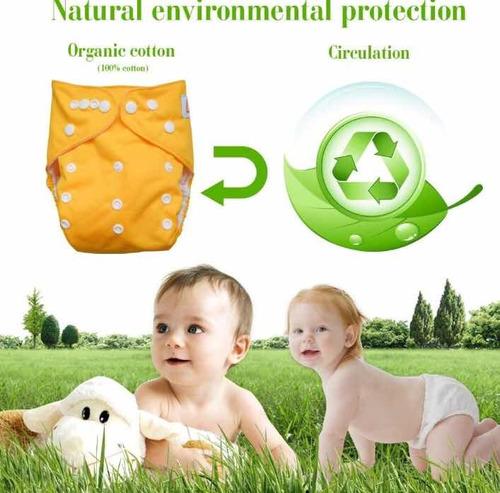 pañal ecológico reutilizable set x 3 más 3 insertos
