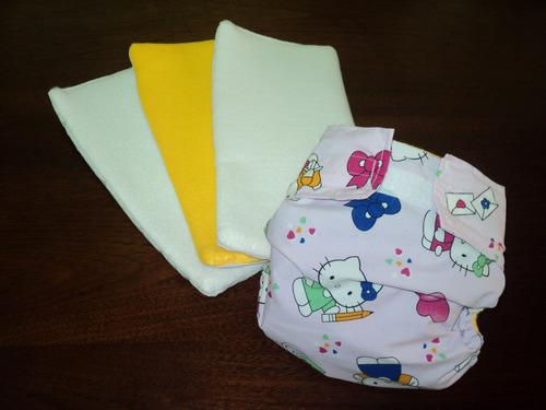 pañal ecológicos + tres absorventes ecológico