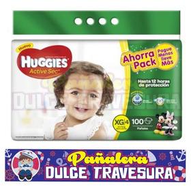 Pañal Huggies Etapa 4 Xg X100 - Unidad a $779