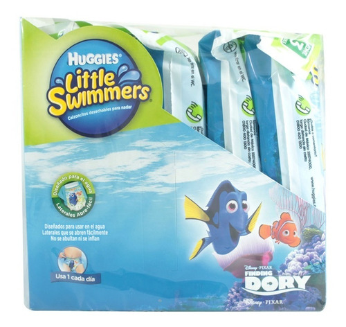 pañal huggies little swimm 3 chico 15 pzas