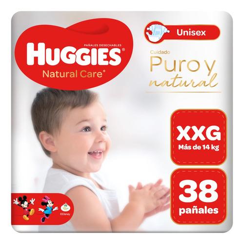 pañal huggies natural care unisex talla xxg 38 unid