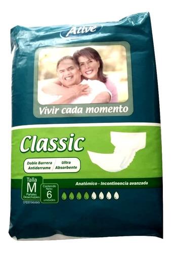 pañal para adultos  m  alive classic paquete 6 unidades myp