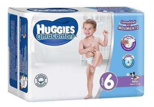 pañal para bebe huggies ultraconfort niño e6 40pza