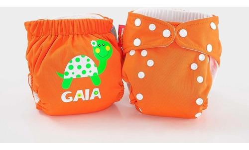 pañal  personalizado con el nombre del bebe (naranja)