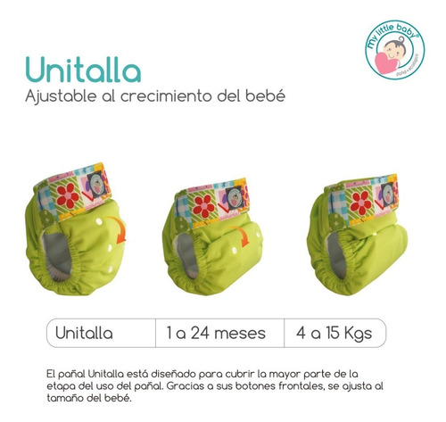 pañal unitalla periódico pañales ecológicos my little baby