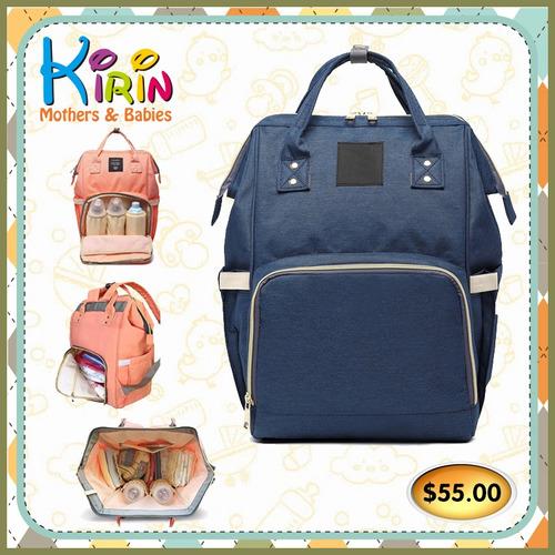 pañalera grande mochila varios modelos bebé impermeable