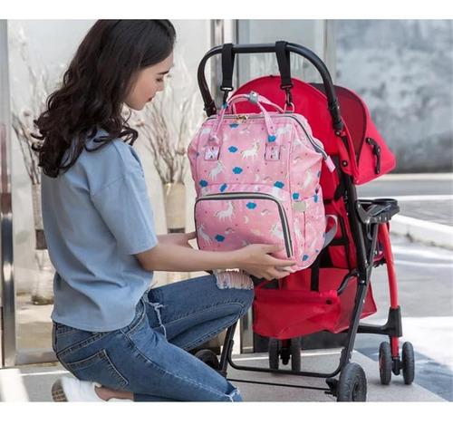 pañalera impermeable y termico c/diseño maternidad/bebe