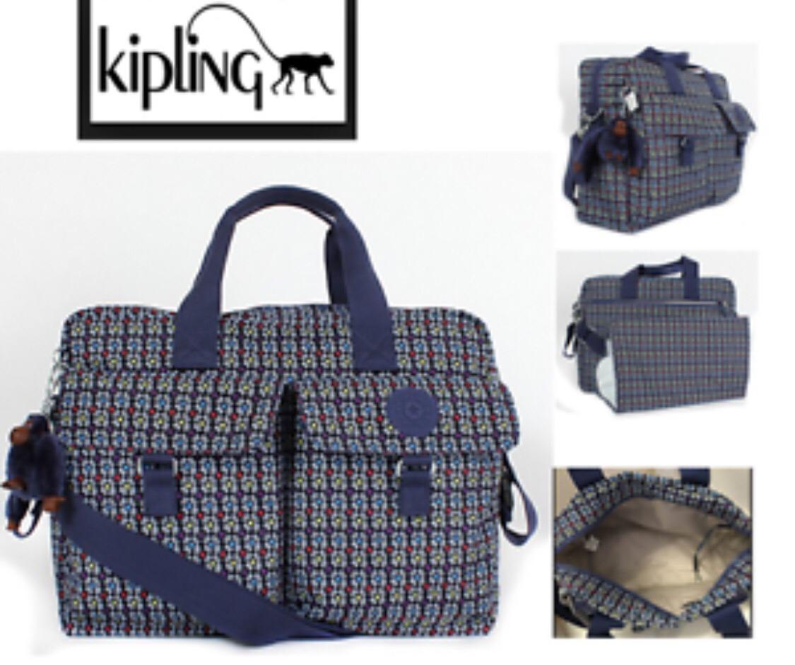 4aeee758f Pañalera Kipling New Baby Bag Azul Marino Estsmpada - $ 2,045.00 en ...