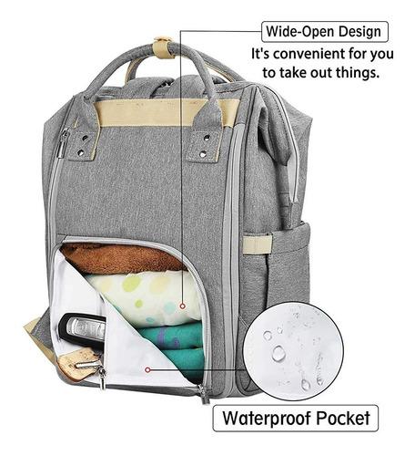 pañalera mochila ampliable para pañales de bebe