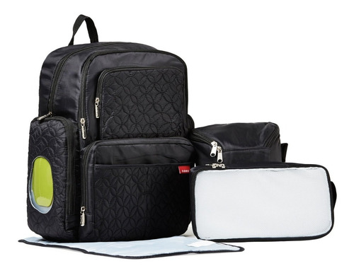 pañalera morral 5 piezas maleta soho gris envío gratis
