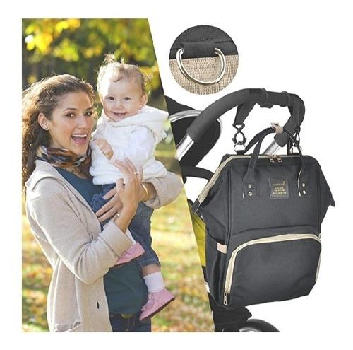 pañalera tipo bolso moderna color negra