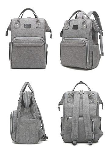 pañalera tipo bolso moderno grande color gris