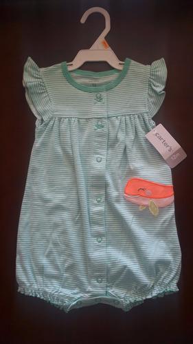 pañalero ballena, p/ niña, marca carter´s, ropa 1 pieza bebe