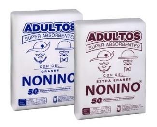 pañales adultos nonino c gel grande g de 50 x 2 paquetes
