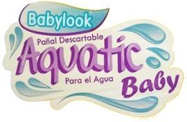 pañales de agua para pileta babylook aquatic baby 3 tamaños