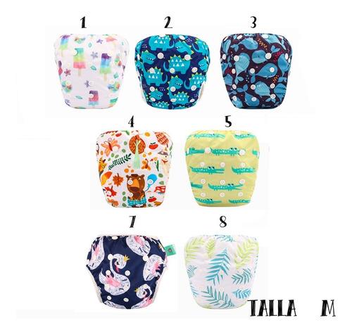 pañales de piscina natación reutilizables para bebés x1