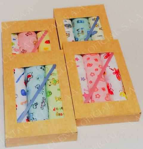 pañales de tela para bebe set de pañales 100% algodon bebes