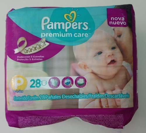 pañales desechables ecológicos pampers talla p