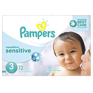 pañales desechables, pampers pañales swaddlers sensibles..