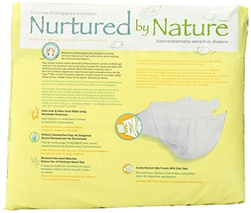 pañales ecológicamente sensibles, de gran tamaño 4, cuenta 2