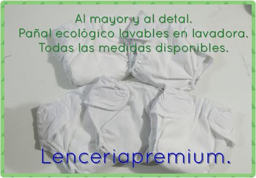 pañales ecológicos, lavables, talla m, g, xg. en trum.