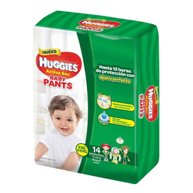Pañales Huggies Active Sec Baby Pants Talle Xxg X 14 Unid