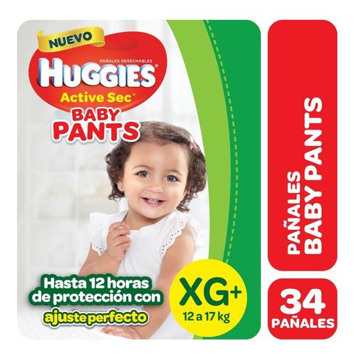 pañales huggies active sec baby pants - talles m g xg xxg