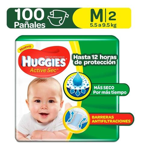 pañales huggies active sec etapa 2 - unidad a $564