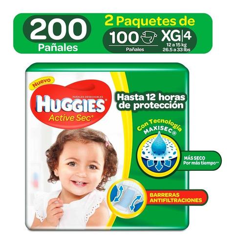 pañales huggies active sec etapa 4 - unidad a $788