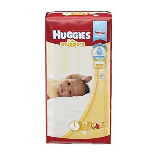 pañales huggies little snugglers - tamaño 1 - 35 ct