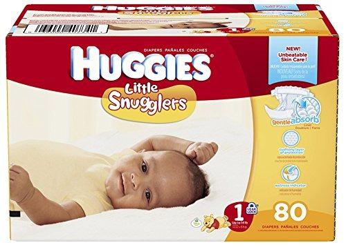 pañales huggies little snugglers - tamaño 1 - el 80 ct