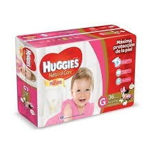 pañales huggies natural care ellas g x 56 unidades pack x 4