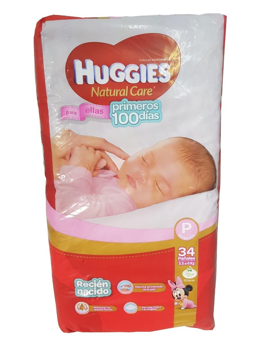 845ea61d23e Pañales Huggies Natural Care Ellas Recien Nacido P 3-6kg X34 -   245 ...